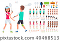 badminton vector player 40468513