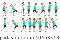 Badminton Player Male Vector.  40468518