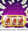 Slot Machine Banner Vector.  40468545