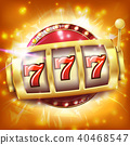Casino Slot Machine Banner Vector.  40468547