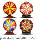 Wheel Of Fortune Set Vector. 40468553
