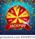 Wheel Of Fortune Poster Vector 40468559