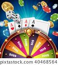 Fortune Wheel Design Vector.  40468564