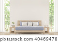 Modern bedroom with pastel furniture 3d render 40469478