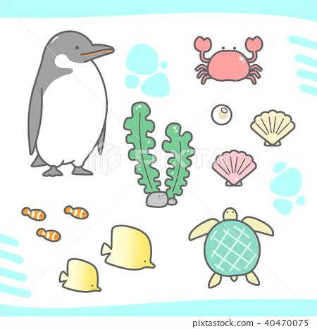 企鵝 螃蟹 蟹 40470075