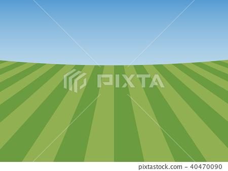 잔디와 푸른 하늘 배경 40470090