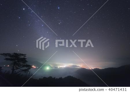 Kunimigaoka sea of clouds and starry sky 40471431