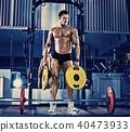 bodybuilder in gym 40473933