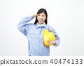 여성, 여자, 작업복 40474133