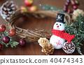 คริสต์มาส,พวงดอกไม้คริสต์มาส,ตุ๊กตาหิมะ 40474343
