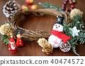 คริสต์มาส,พวงดอกไม้คริสต์มาส,ซานต้า 40474572