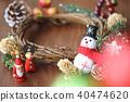คริสต์มาส,พวงดอกไม้คริสต์มาส,ซานต้า 40474620