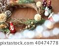คริสต์มาส,พวงดอกไม้คริสต์มาส,ซานต้า 40474778