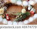 คริสต์มาส,พวงดอกไม้คริสต์มาส,ซานต้า 40474779