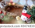 คริสต์มาส,พวงดอกไม้คริสต์มาส,ตุ๊กตาหิมะ 40474830