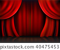Background  curtain stage. 40475453