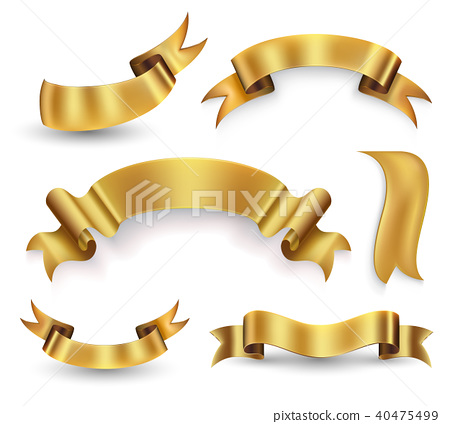 Gold ribbon 40475499