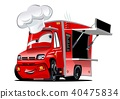 vector cartoon truck 40475834