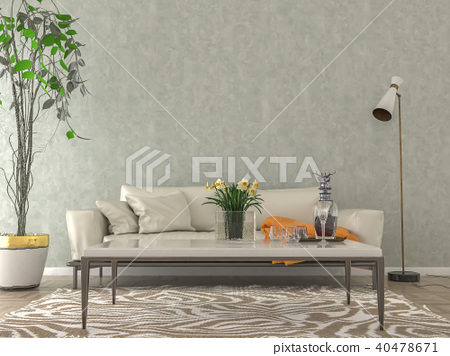 Living room interior - empty wall background 40478671