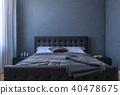 Blank wall in bedroom 40478675