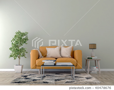 Living room interior - empty wall background 40478676