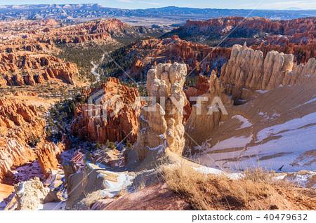 Bryce Canyon Scenic Winter Landscape 40479632