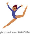Gymnastics Acrobat Woman 40480854