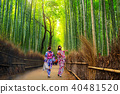 Bamboo forest of Arashiyama near Kyoto, Japan 40481520