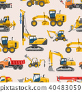Excavator for construction vector digger or bulldozer excavating with shovel and excavation 40483059