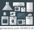 Home appliances vector domestic household equipment kitchen electrical domestic technology for 40483316