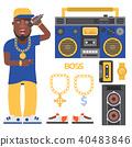 hip-hop man accessory 40483846
