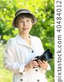 시니어 여자 미소 카메라 f4 40484012