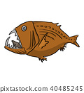 deep sea fish vector illustration sketch doodle 40485245
