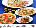 派對食物會見意大利語 40486281