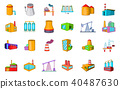 factory, icon, set 40487630