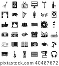 audiosystem, icon, simple 40487672