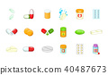 pills, icon, set 40487673