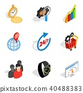 business, management, icons 40488383