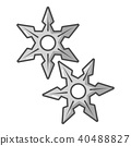 Ninja stars icon, cartoon style 40488827