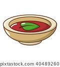 Soy sauce plate icon, cartoon style 40489260
