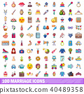 100 marriage icons 40489358