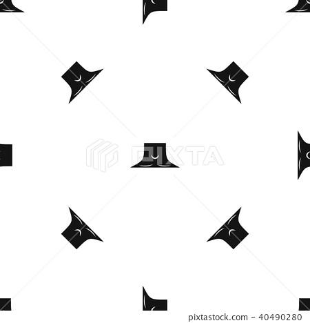 Human neck pattern seamless black 40490280