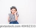 세련된 초등학생 여자 40492333