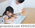 年轻的家庭,父母和孩子,孩子,生活学习 40492528