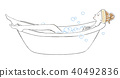 Woman bathing hair band 40492836