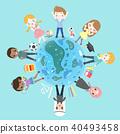 cartoon diverse children 40493458