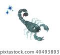 十二星座天蠍座水彩插圖 40493893