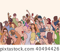 Line art illustration of summer party people 40494426