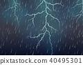 闪电般的 快速的 下雨 40495301