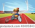 sport, athlete, vector 40495843